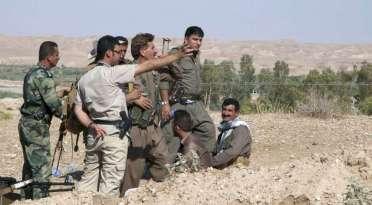 Kurdiske styrker i kamp mod IS. Her ved byen Jawla i Irak.