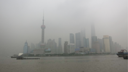 Smog over Shanghai