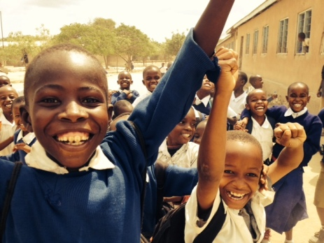 Skolebørn i Mererani