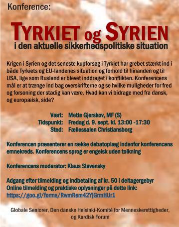 Konferenceindbydelse Tyrkiet og Syrien